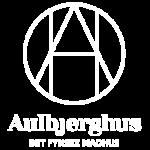 Aubjerghus logo - hvid